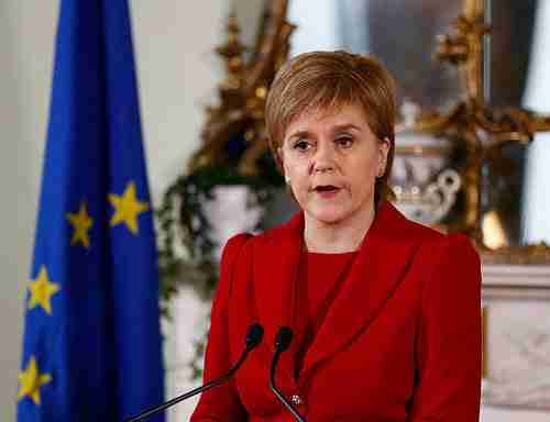 Scotland's first minister Nicola Sturgeon in Brussels on Tuesday