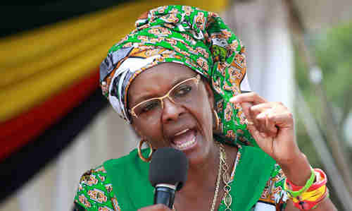 Grace Mugabe, the young wife of 92-year-old Robert Mugabe, who he wants to be his successor