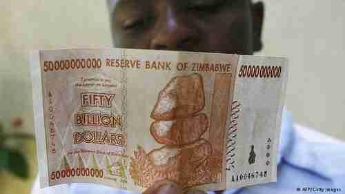 50 billion Zimbabwean dollar note from 2008 hyperinflation
