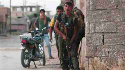 Kurdish fighters in Hasaka (Reuters)