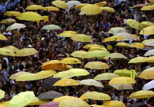Umbrella Movement protest in Hong Kong, September 2015 (Reuters)