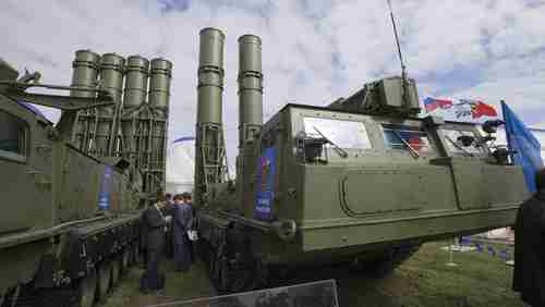 Russian S-300 air defense missile system (AP)