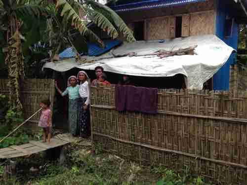 Rohingya family in Rakhine State in Myanmar (Burma)