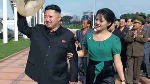 Kim Jong-un and Ri Sol-ju in 2012