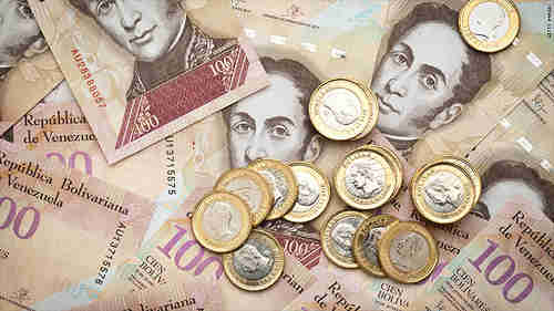 This entire pile of Venezuelan currency is probably worth less than one American dollar.