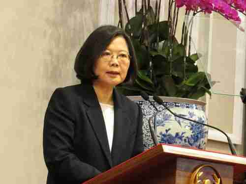 Tsai Ing-wen at news conference on Saturday