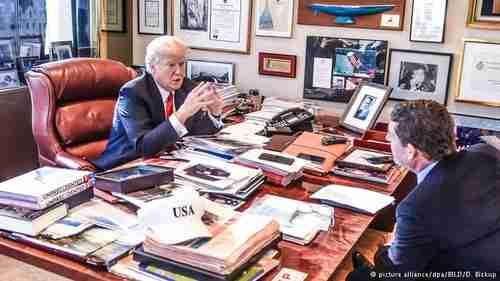 Trump interview on Monday (dpa)