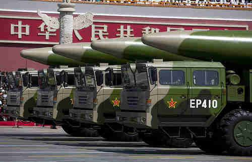 Battery of Chinese DF-41 missiles