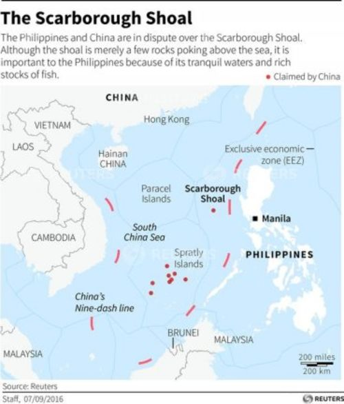 China's now-famous 'nine-dash line' illegally claims sovereignty over the entire South China Sea, including territories belonging to other nations (Reuters)