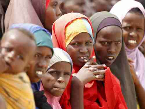 Somali refugees in the Dadaab refugee camp (Reuters)