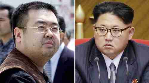 Kim Jong-nam (L), the assassinated half-brother of Kim Jong-un (R) (AP)