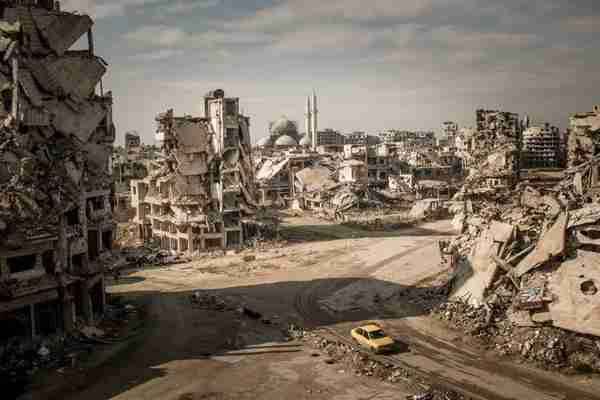 A recent picture of Homs, where the Syrian government claims that it has restored peace, security and stability (Der Spiegel)