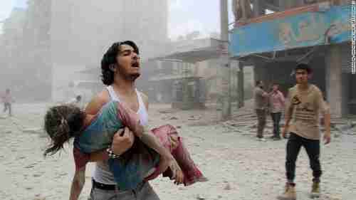 Aftermath of terrorist bombing in Damascus (CNN)