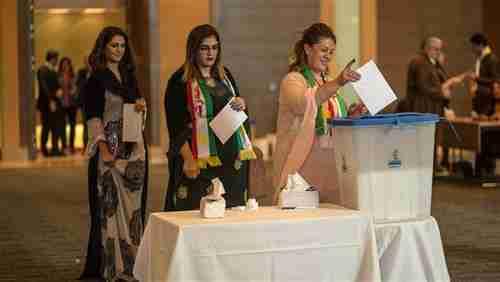 Voting on the Kurdistan independence referendum on September 25 in Erbil (AFP)