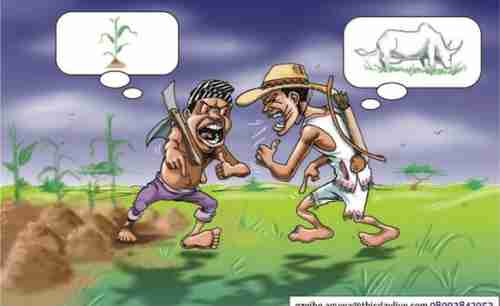 Cartoon: Farmer vs Herdsman in Nigeria (AllAfrica)