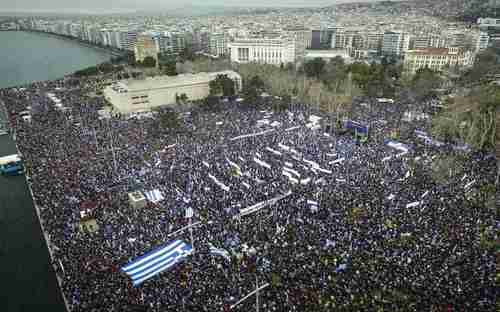 Hundreds of thousands of Greeks in Thessaloniki (Salonica), the capital city of Greece's administrative region of Macedonia, last year protested any name change to the Republic of Macedonia that includes the word 'Macedonia' (Kathimerini)