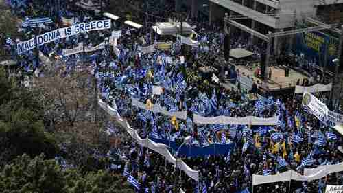 Hundreds of thousands of Greeks rallied in Athens on Sunday (Sky News)