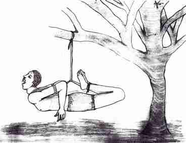Graphic artist depiction of torture in Eritrea, based on interviews with Eritrean torture survivors (UN-OHCHR)