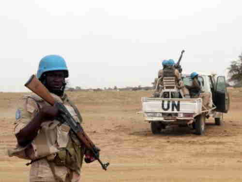 Jihadists in Mali dress as UN peacekeeprs and display UN logos (Reuters)