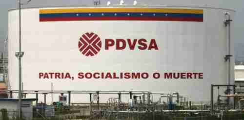 Oil tank labeled 'PDVSA - Homeland, Socialism or Death' (PanamPost)