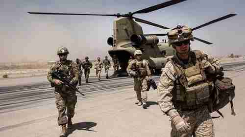 American soldiers in Camp Bost in Helmand Province, Afghanistan (Getty)