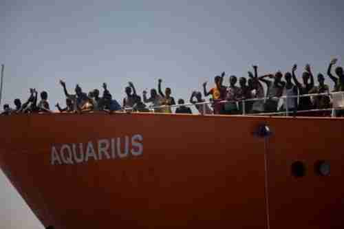 Migrants on the Aquarius (AP)