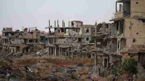 Area of Daraa after Syrian bombing (Sky News)