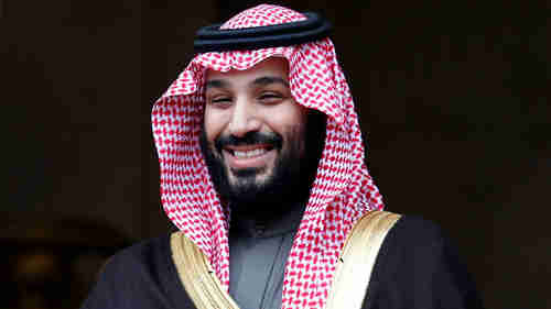 Despite his boyish grin, many people believe that Saudi Arabia Crown Prince Mohammed bin Salman ordered the brutal murder of Jamal Khashoggi (AP)