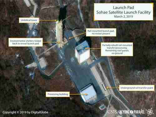 Sohae Launch Facility in North Korea, March 2, 2019
