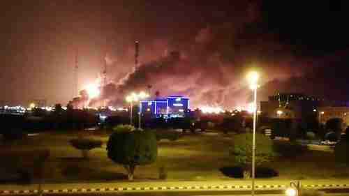 Saudi oil process facility after drone attack (WSJ)