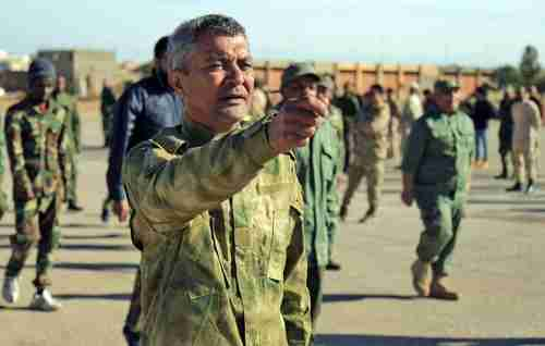 Fighters in Hafter's Libyan National Army (LNA) on December 18 (AFP)