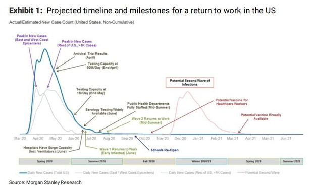 Morgan Stanley Research: Project timeline and milestones for a return to work in the US (ZeroHedge)