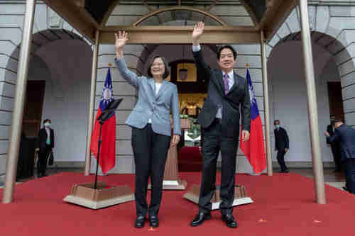 Taiwan President Tsai Ing-wen and VP William Lai Qingde on inauguration day May 20 (Reuters)