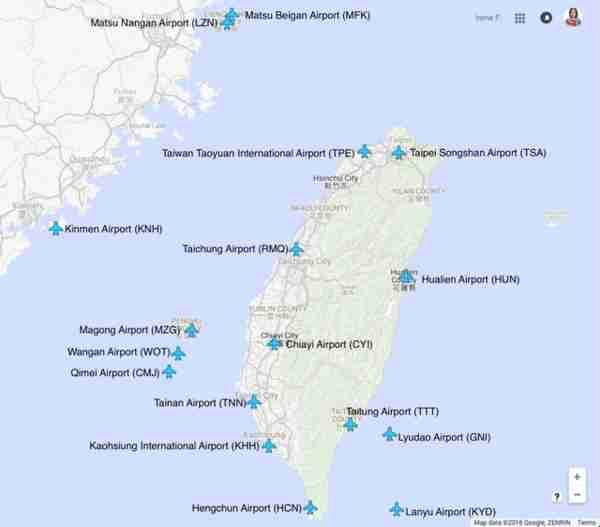 Taiwan Airfields