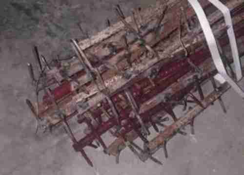 This is the kind of crude weapon, made with iron rods studded with nails, used by Chinese soldiers on Monday to kill Indian soldiers, according to India.