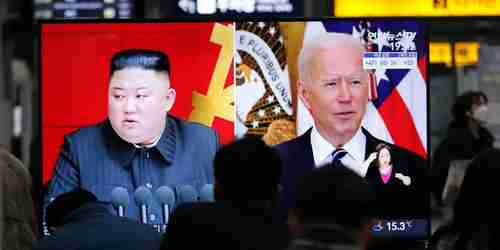 Kim Jong-un and Joe Biden