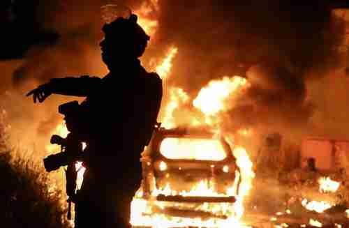 Violence in Jerusalem on May 6 (Reuters)