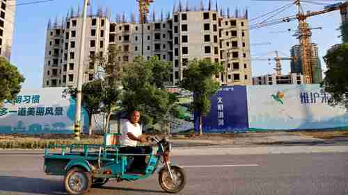 An unfinished Evergrande construction project in Taicang, China (Quartz)