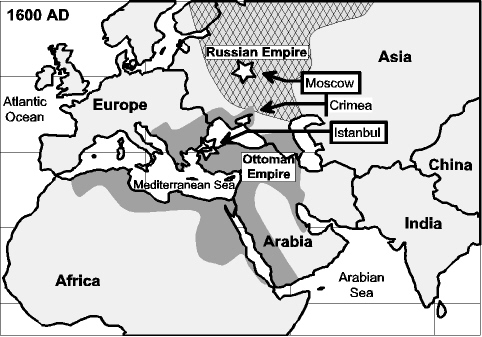 Eastern Europe in 1600 AD