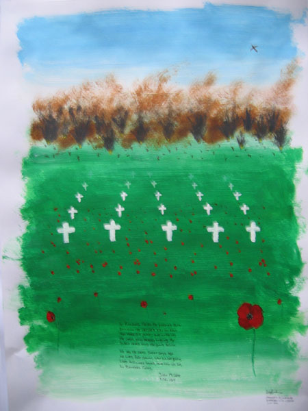 Red poppies in Flanders Field (LaMa Arts)