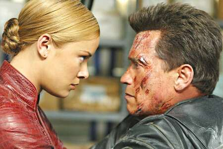 Robots played by Arnold Schwarzenegger and Kristanna Loken in <i>Terminator</i>