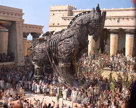 The Trojan Horse in the Brad Pitt movie <i>Troy</i>