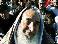 Hamas leader Sheikh Ahmed Yassin, was born in 1936