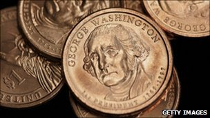US $1 coin <font size=-2>(Source: BBC)</font>