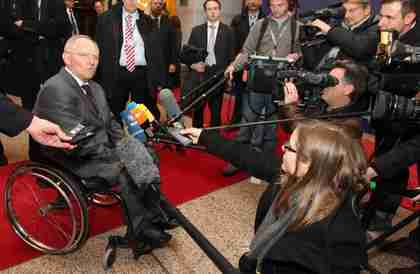 Wolfgang Schäuble on Thursday (AP)