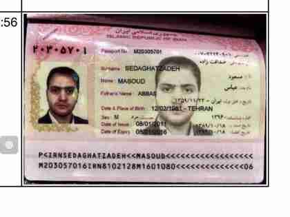 Suspect Masoud Sedaghatzadeh