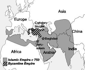 Islam Vs Orthodox Christianity Eastern Europe Roman Byzantine - Muslim world map blank