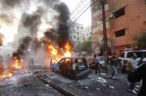 Car bombing in Beirut on Thursday (AFP)