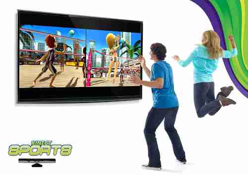 Playing volleyball using Microsoft's Kinect motion-sensing technology