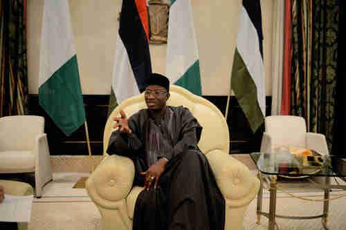 Goodluck Jonathan on Friday (WSJ)